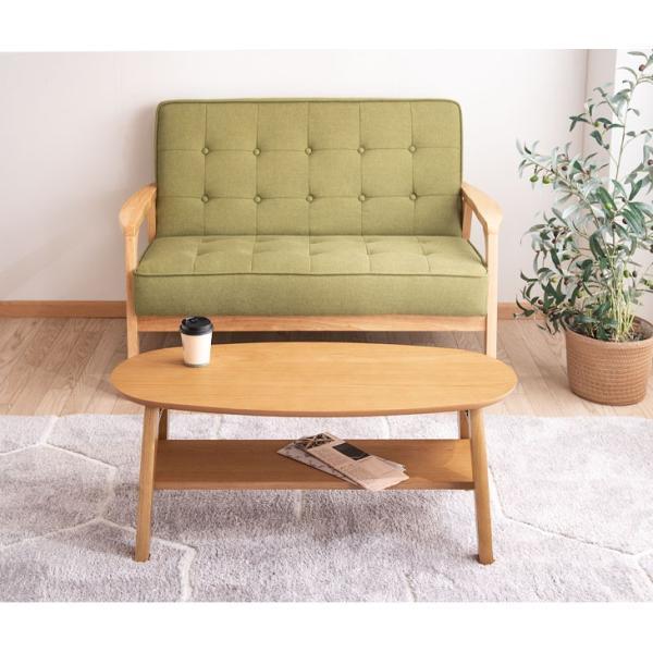 リビングテーブル テーブル ローテーブル 木製 折りたたみテーブル センターテーブル 北欧 おしゃれ 棚付き|tansu|05
