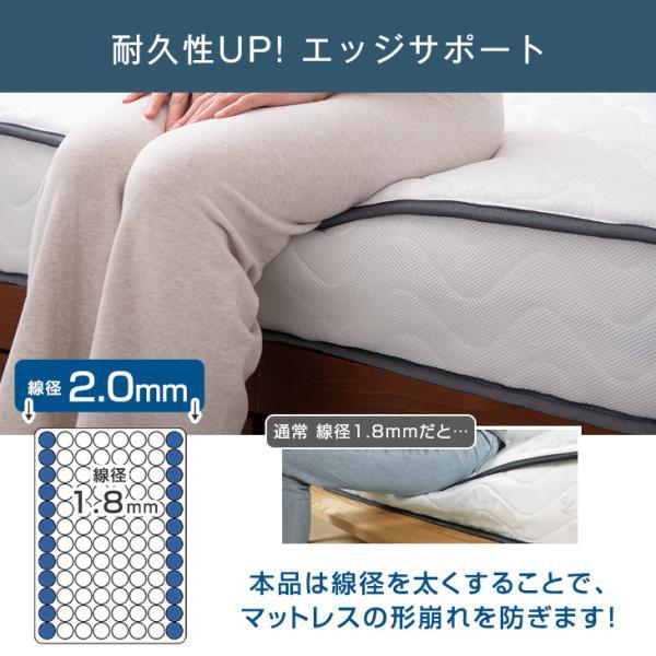 マットレス シングル ポケットコイル 圧縮マットレス 快眠コンパクト シングルマットレス 通気性|tansu|12