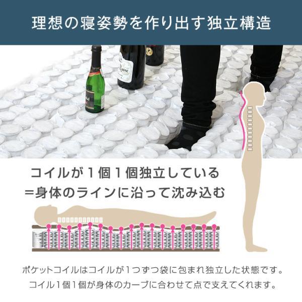 マットレス シングル ポケットコイル 圧縮マットレス 快眠コンパクト シングルマットレス 通気性|tansu|08