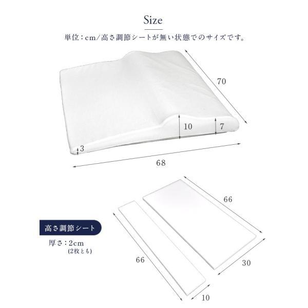 枕 まくら 肩こり 低反発枕 ウレタン ピロー マクラ 蒸れにくい 低反発 寝汗 柔らかい 高さ調整 やわらかい ボディ サポート|tansu|02