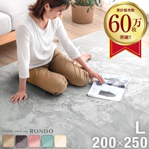 RoomClip商品情報 - ラグ マット ラグマット リビングマット カーペット 200×250 3畳 長方形 洗える ウォッシャブル ホットカーペット対応 床暖房 防音 滑り止め