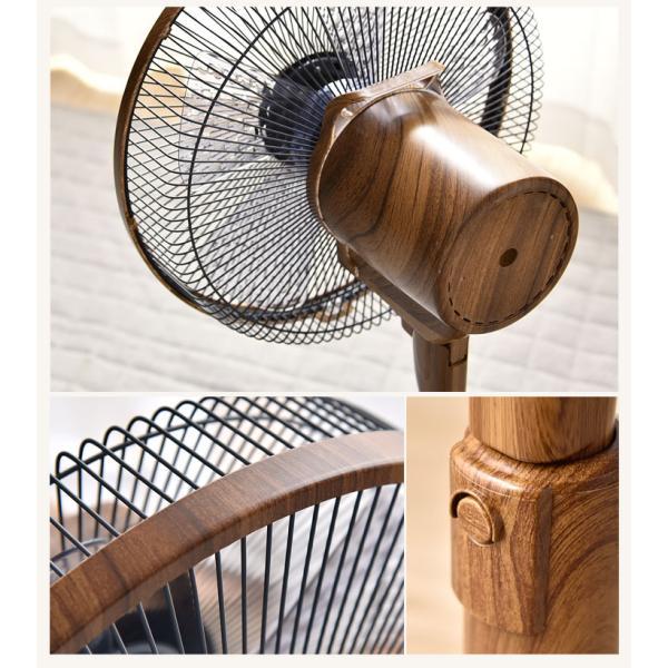 扇風機 DCモーター 木目調 リモコン付 リビングファン サーキュレーター おしゃれ 首振り 8段階風量調節 タイマー付 夏|tansu|05