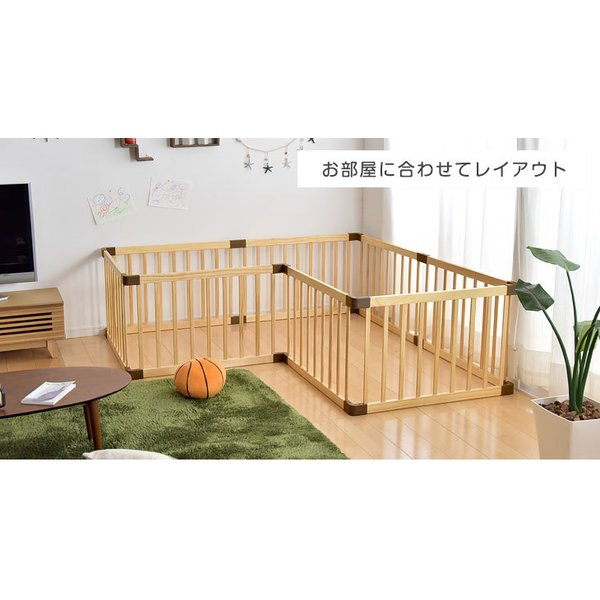 ベビーサークル 木製ベビーサークル 8枚セット 赤ちゃん 簡単組立 プレイペン 8枚 セット ベビーデイズ|tansu|05