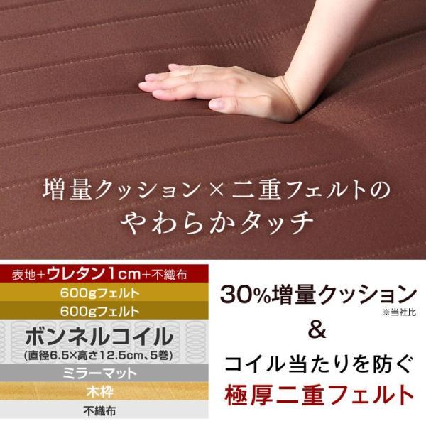 ベッド 脚付きマットレス シングルベッド ローベッド 一体型 脚付き 脚付マットレスベッド 脚付マットレス ボンネルコイルマットレス 【大型商品】|tansu|12