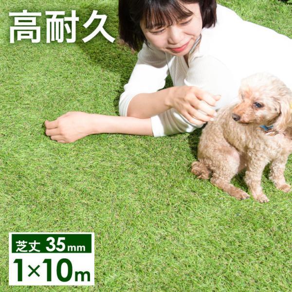 人工芝 ロール リアル人工芝 1m×10m 芝生 ガーデン ガーデニング|tansu