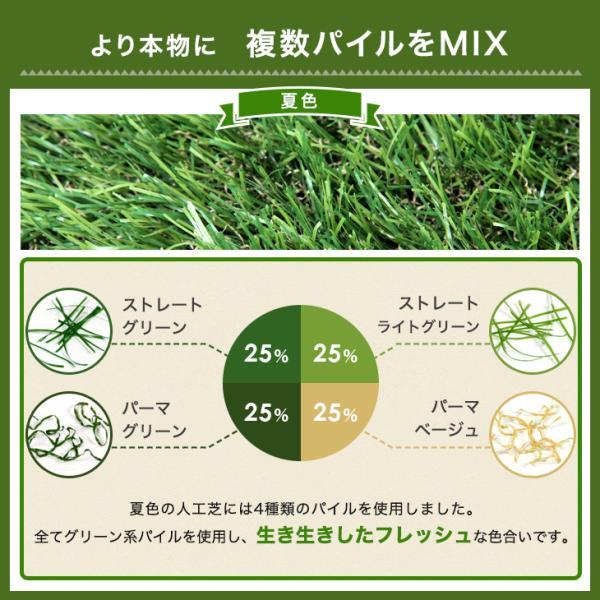 人工芝  ロール リアル人工芝 芝生 2個セット 1m×10m  芝丈35mm 芝生マット|tansu|11