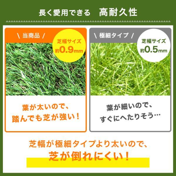 人工芝  ロール リアル人工芝 芝生 2個セット 1m×10m  芝丈35mm 芝生マット|tansu|04
