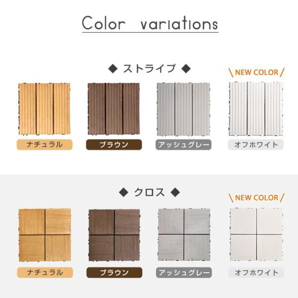 ウッドパネル ウッドデッキパネル 人工木 ウッドパネル 54枚セット ジョイント式 30×30cm 腐らない ウッド ウッドデッキ パネル ウッドタイル|tansu|02