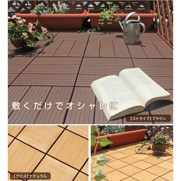 ウッドデッキ 人工木 ウッドパネル 81枚セット ジョイント式 30×30cm 腐らない ウッド ウッドデッキ パネル ベランダ ガーデン ウッドタイル tansu 04