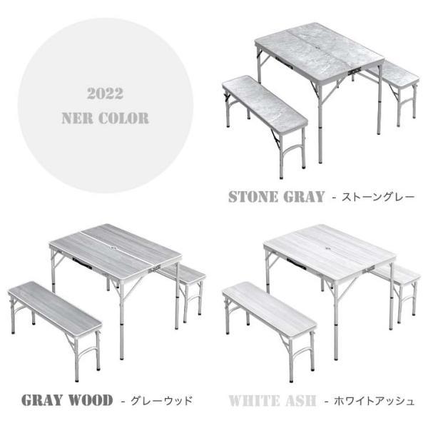 アウトドアテーブル 折りたたみ レジャーテーブル キャンプ 軽量 アルミ 高さ調節 アウトドアテーブルセット アウトドア 4500000003|tansu|02