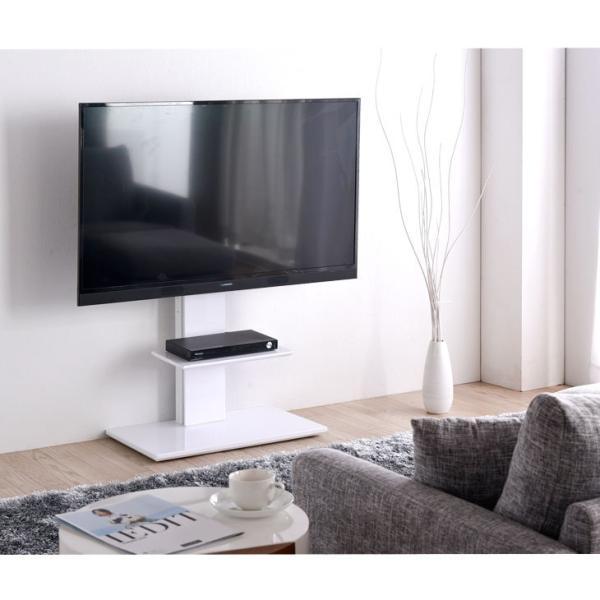 テレビ台 テレビスタンド 壁寄せ ロータイプ キャスター付き 高さ調節 調節 おしゃれ 自立式 北欧 スリム 壁掛け風|tansu|04