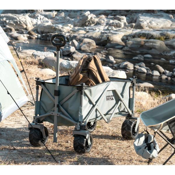 キャリーカート キャリーワゴン キャリー カート 折り畳み式 アウトドア ワゴン 108L 大型タイヤ 頑丈キャリーカート|tansu|04