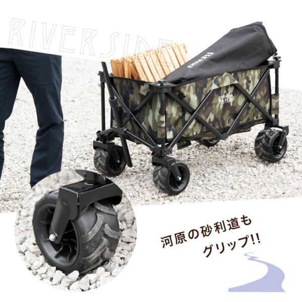 キャリーカート キャリーワゴン キャリー カート 折り畳み式 アウトドア ワゴン 108L 大型タイヤ 頑丈キャリーカート|tansu|09