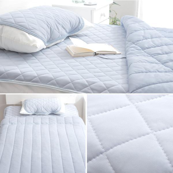 ひんやり寝具3点セット 肌掛け布団 敷パッド 肌布団 枕パッド 接触冷感 3点セット 洗える シングル ベッドパット ベットパット ウォッシャブル 夏 夏布団|tansu|13