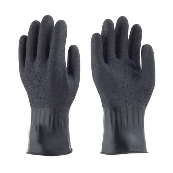 トラスコ中山 tr-4040457 トワロン 天然ゴム手袋 黒潮 S (tr4040457)