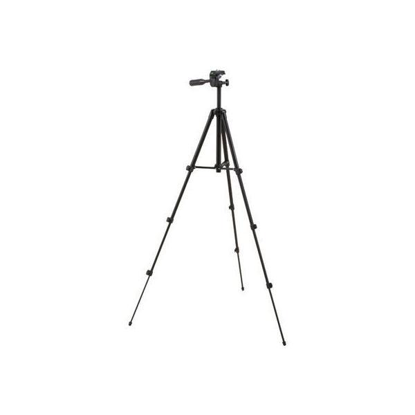 【納期目安:2週間】オーム電機 4971275328914 カメラ三脚 4段階調節 黒 OCT001-K  1コ入