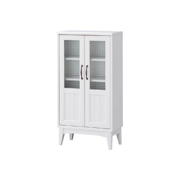 RoomClip商品情報 - 白井産業 RTA-1155G レトロモダンの甘さを抑えた白い家具 キャビネット Retroa レトロア (RTA1155G)