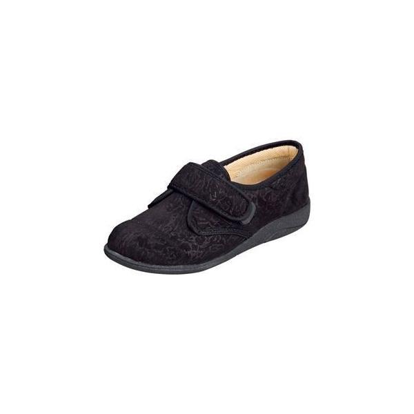 ds-1431814 マリアンヌ製靴 彩彩〜ソフト〜ケアシューズ サーモトロンインソールタイプ W811 /24.0cm ブラック (ds1431814)