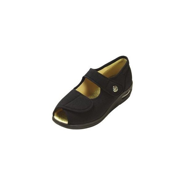 ds-1431970 マリアンヌ製靴 彩彩〜ちりめん〜 W1103 婦人用 /22.0cm ブラック (ds1431970)