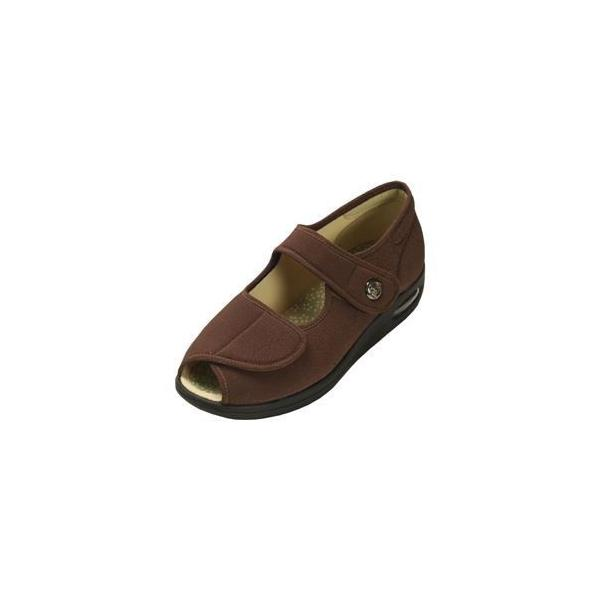 ds-1431985 マリアンヌ製靴 彩彩〜ちりめん〜 W1103 婦人用 /24.5cm ブラウン (ds1431985)