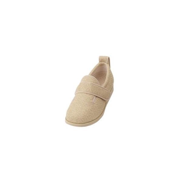 ds-1432435 介護靴 施設・院内用 ダブルマジック2雅 9E(ワイドサイズ) 7022 両足 徳武産業 あゆみシリーズ /LL (24.0〜24.5cm) ベージュ (ds1432435)