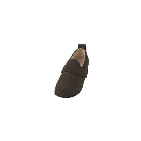 ds-1432495 介護靴 施設・院内用 ダブルマジック2ヘリンボン 5E(ワイドサイズ) 7023 両足 徳武産業 あゆみシリーズ /5L (27.0〜27.5cm) 茶