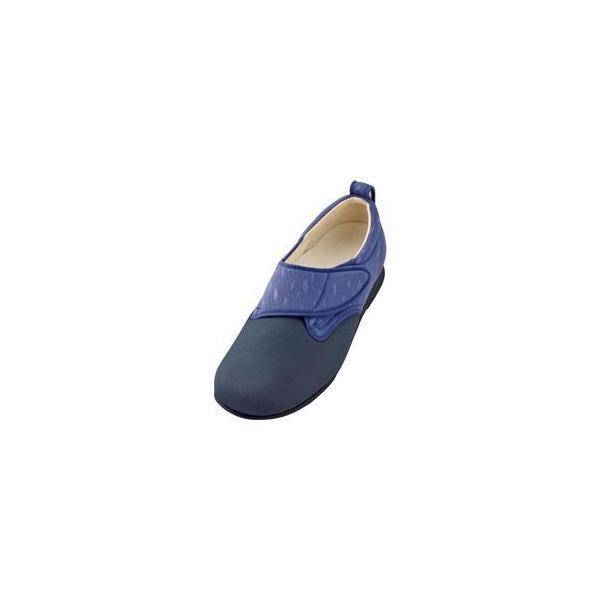 ds-1432603 介護靴 施設・院内用 ウィングストレッチ 1102 両足 徳武産業 あゆみシリーズ /3L (25.0〜25.5cm) 紫 (ds1432603)
