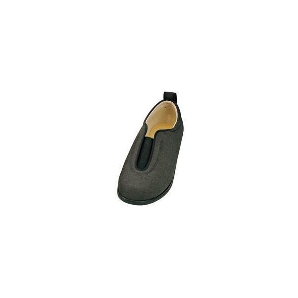 ds-1433426 介護靴 施設・院内用 センターゴム2 1023 両足 徳武産業 あゆみシリーズ /3L (25.0〜25.5cm) 黒 (ds1433426)