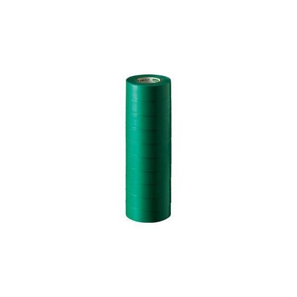 ds-1581078 (まとめ) オカモト ビニールテープ No.470 19mm×10m 緑 No.470-19x10 ミドリ 1パック(10巻) 【×10セット】 (ds1581078)