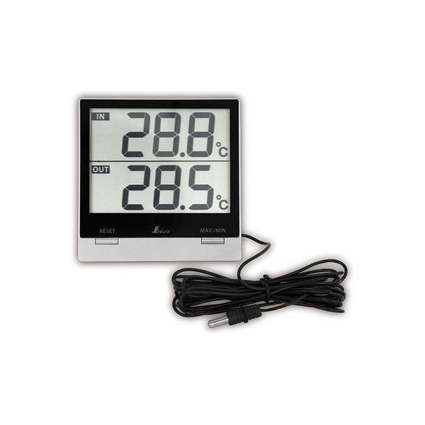 シンワ測定 4960910731189 【メール便での発送商品】 デジタル温度計SmartC 最高・ 最低 室内・室外防水外部センサー 73118