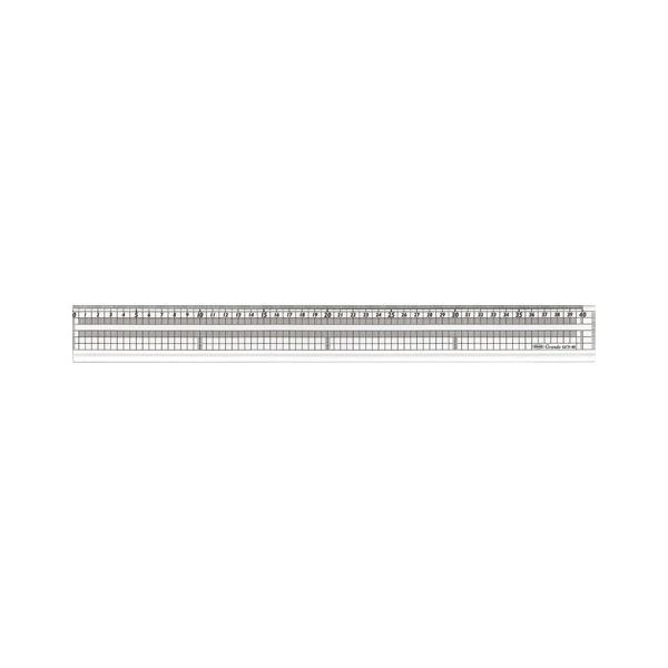 4963346114908 共栄プラスチック グランデ方眼みぞ付カッティング直線定規 GCT-40 (1本)