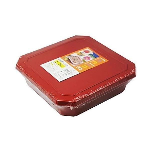 大和物産 4904681631668-60 【60個セット】フードパック 赤飯パック L 3組入 (弁当箱 使い捨て容器)【沖縄・離島配達不可】 (490468163166860)