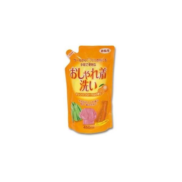 ds-2302909 (まとめ)ロケット石鹸 おしゃれ着洗いオレンジオイル配合 詰替用 450ml 1個【×30セット】 (ds2302909)