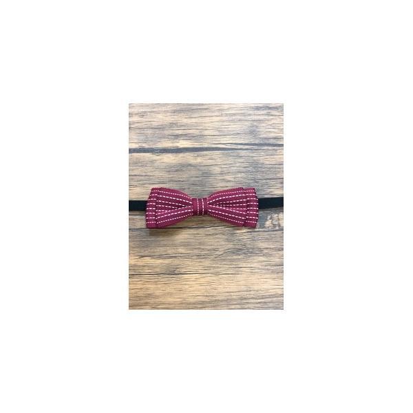 ds-2324063 Pet bow tie(ペットボウウタイ) M ドットライン×レッド (ds2324063)