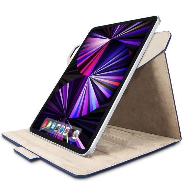 エレコム TB-A21PM360NV iPad Pro 11インチ ケース カバー フラップ 手帳 レザー 360度回転 タッチペンホルダ マグネット ネイビー (TBA21PM360NV)
