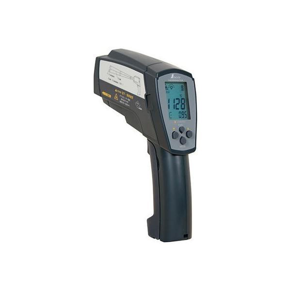 シンワ測定 73100 放射温度計高温測定用デュアルレーザーポイント機能付放射率可変タイプ