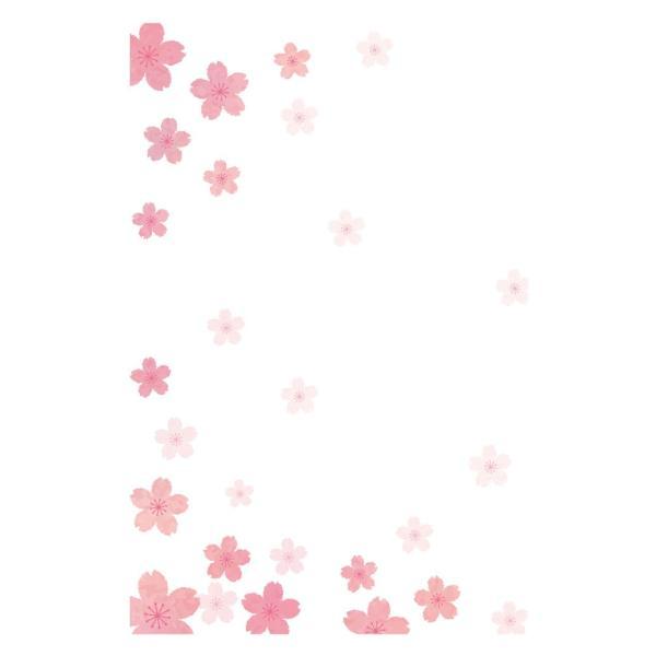 私製 5枚 桜さくら 寒中・余寒見舞いに  pka-05 切手なし/裏面印刷済み/ポストカード