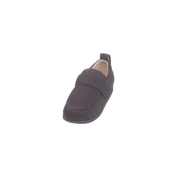 ds-1432458 介護靴 外出用 NEWケアフル 3E 1303 両足 徳武産業 あゆみシリーズ / 4L (26.0〜26.5cm) 黒 (ds1432458)