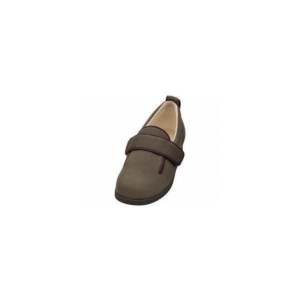 ds-1433336 介護靴 施設・院内用 ダブルマジック2 11E(ワイドサイズ) 7029 両足 徳武産業 あゆみシリーズ /4L (26.0〜26.5cm) ブラウン (ds1433336)