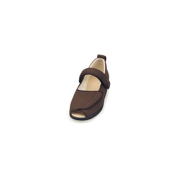 ds-1445738 介護靴 施設・院内用 オープンマジック2 7E(ワイドサイズ) 7010 両足 徳武産業 あゆみシリーズ /S (21.0〜21.5cm) ブラウン (ds1445738)
