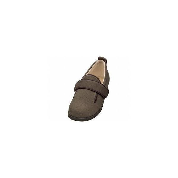 ds-1446003 介護靴 ダブルマジック2 9E(ワイドサイズ) 7017 片足 徳武産業 あゆみシリーズ /M (22.0〜22.5cm) ブラウン 右足 (ds1446003)