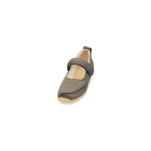 ds-1446087 介護靴 施設・院内用 オープンマジック2 9E(ワイドサイズ) 7018 片足 徳武産業 あゆみシリーズ /4L (26.0〜26.5cm) Mグレー 右足