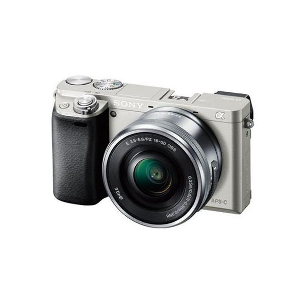 【納期目安:2週間】ソニー ILCE-6000L-S デジタル一眼カメラ レンズキット 【キットレンズ:E PZ 16-50mm F3.5-5.6 OSS】 (シルバー)