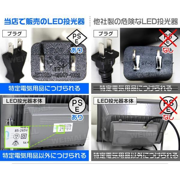 LED投光器 30W 電球色 暖色 3000K 省エネ LEDライト 防水 6個セット|tantobazarshop|02