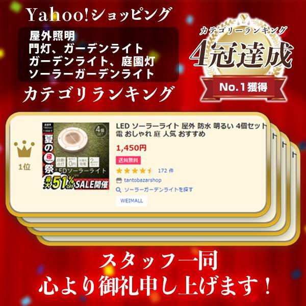 LEDソーラーライト LEDライト 防水 ガーデンライト 屋外 埋込 置き型 2WAY 4個セット 誘導灯 太陽光充電|tantobazarshop|02
