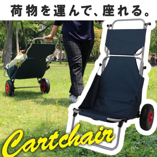 キャリーカート キャリーワゴン 軽量 バギー 折りたたみチェア イス マルチキャリー 椅子 台車 耐荷重120kg キャンプ アウトドア レジャー 送料無料
