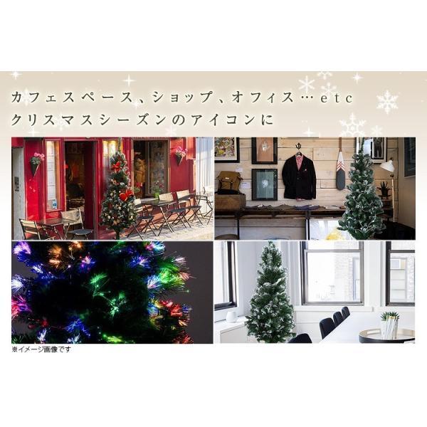 光ファイバー クリスマスツリー 150 cm 北欧 スリム LED 木 ヌードツリー おしゃれ スリム 組立簡単 置物 店舗用 ショップ用|tantobazarshop|07