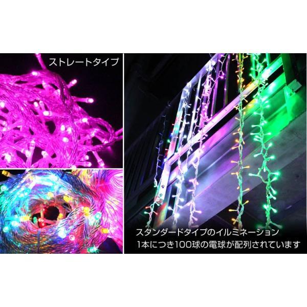 イルミネーション クリスマス LED ストレートライト 10m ピンク 100球 防水加工|tantobazarshop|04