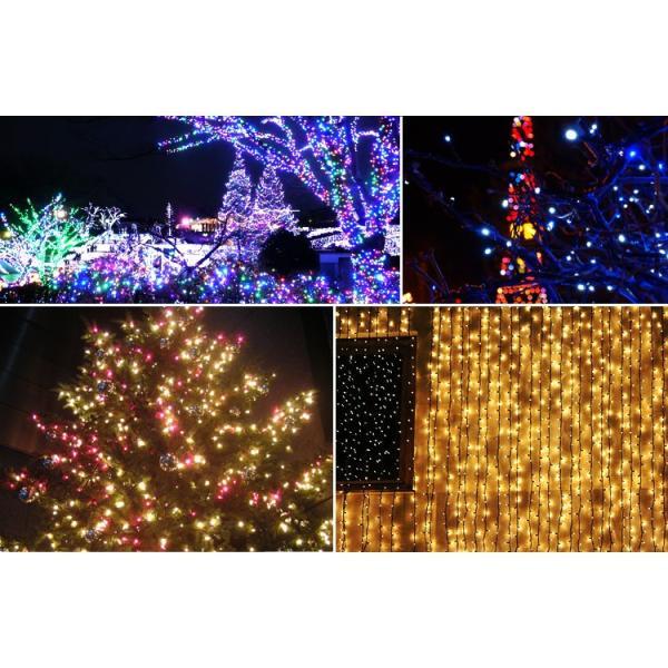 イルミネーション LED ライト ソーラー ガーデン 屋外 防滴 電飾 夜間自動点灯 200球 点灯8パターン ツリー ハロウィン クリスマス|tantobazarshop|11