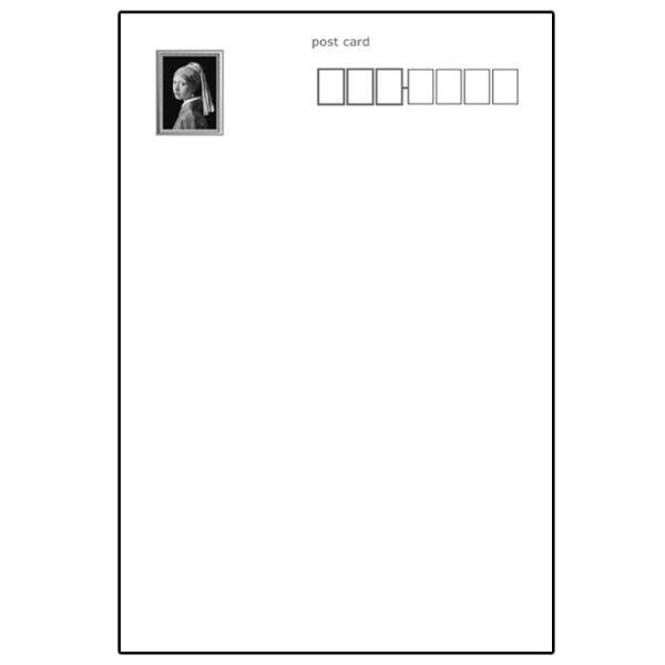 【真珠の耳飾りの少女】フェルメール作 ポストカード 絵画 世界の名画|tanukinomori|03